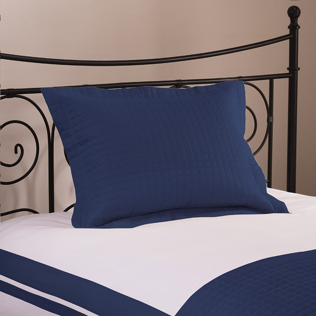 Roxbury Park Quilted King-size Navy Sham