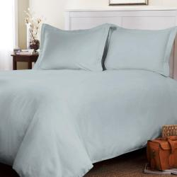 Roxbury Park Solid Platinum Queen-size 3-piece Duvet Cover Set