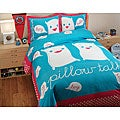 David and Goliath Pillow Talk Queen-size 3-piece Duvet Cover Set
