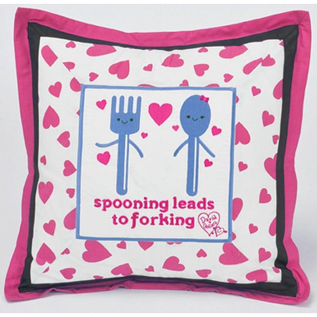 David & Goliath Spooning Decorative Pillow