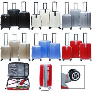 CalPak Sparta 3-piece Expandable Hardside Spinner Luggage Set