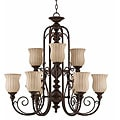 Mademoiselle 9-light Tortoise Shell Chandelier