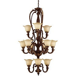 Marilyn 12-light Tortoise Shell Chandelier