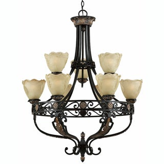 Corinthian 9-light Bronze Chandelier