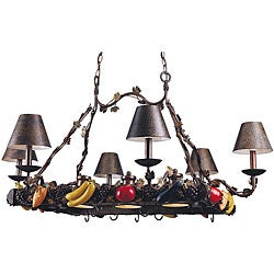 Garden Collection 9-light Crackle Bronze Potrack Chandelier