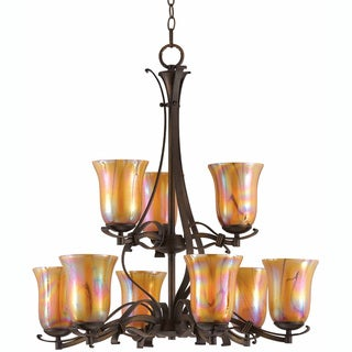 La Perla 9-light Harvest Bronze Chandelier