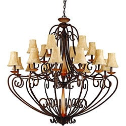 Carmela 18-light Spanish Bronze Chandelier