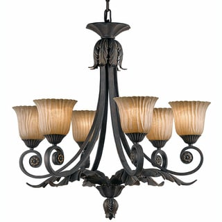 Vienna 6-light Weathered Bronze Chandelier