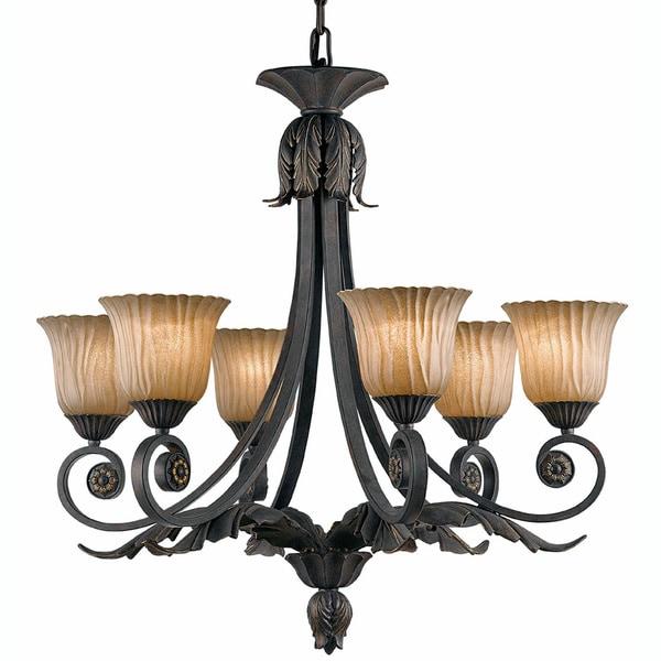 Vienna 6-light Weathered Bronze Chandelier