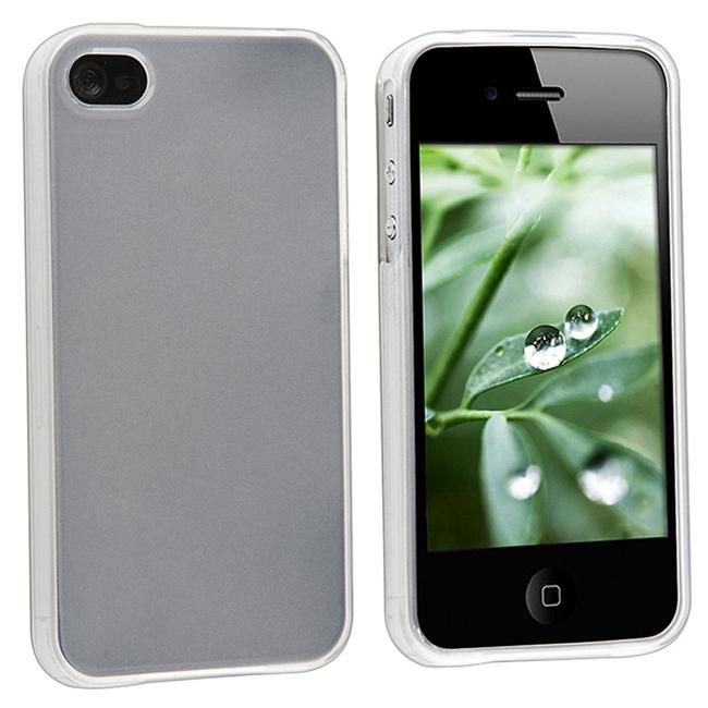 INSTEN Frost White TPU Rubber Phone Case Cover for Apple iPhone 4