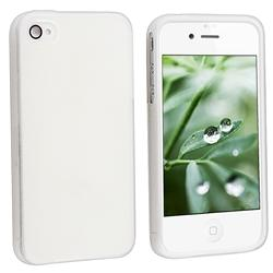 Frost White TPU Rubber Case for Apple iPhone 4