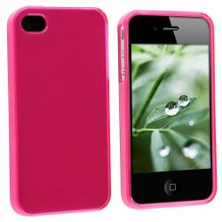 Frost Hot Pink TPU Rubber Case for Apple iPhone 4