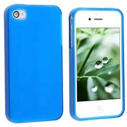 Frost Dark Blue TPU Rubber Case for Apple iPhone 4