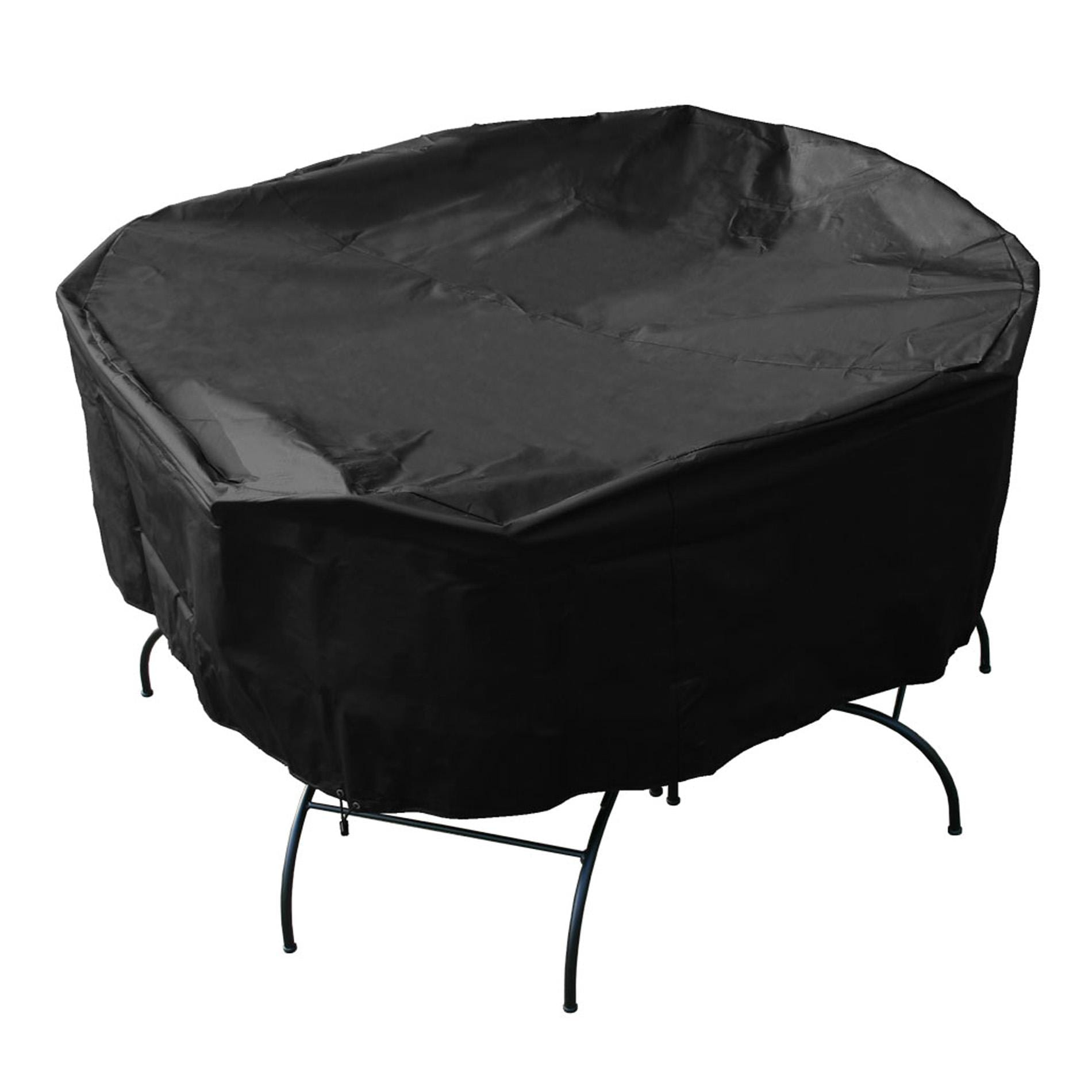 Mr bbq premium black patio set cover furniture garden deck for Outdoor furniture covers in black