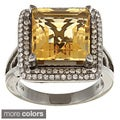 Sterling Silver Citrine and 1/3ct TDW Diamond Ring (J, I2-I3)