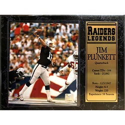 Encore Select Oakland Raiders Jim Plunkett Plaque