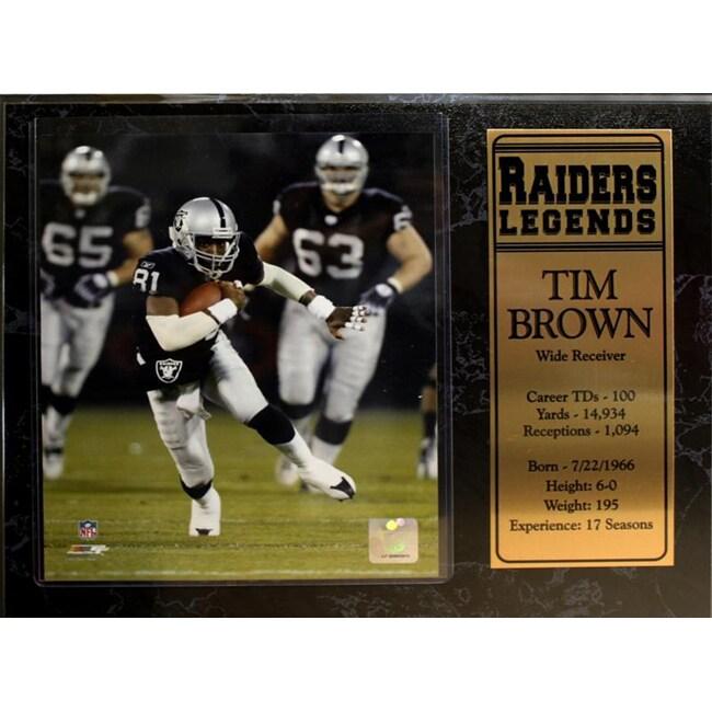 Encore Select Oakland Raiders Tim Brown Plaque