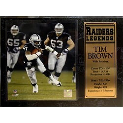 Encore Select Oakland Raiders Tim Brown Plaque
