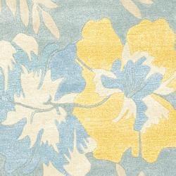 Safavieh Handmade Soho Blue/ Multi New Zealand Wool Rug (7'6 x 9'6)