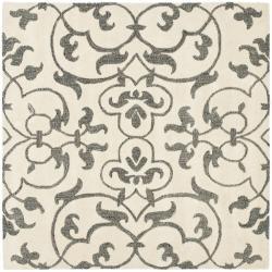 Handmade Soho Ivory/ Grey New Zealand Wool Rug (6' Square)