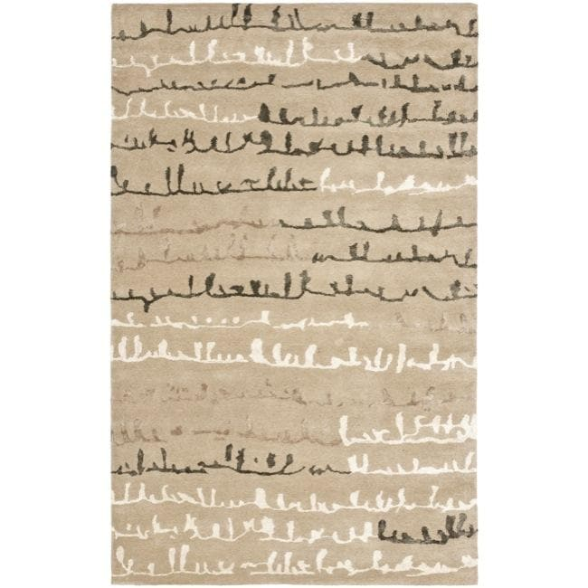 Safavieh Handmade Soho Beige/ Multi New Zealand Wool Rug (3'6 x 5'6)