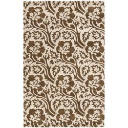 Safavieh Handmade Contemporary Soho Brown/Ivory New Zealand Wool Rug with Cotton-Canvas Backing (7'6