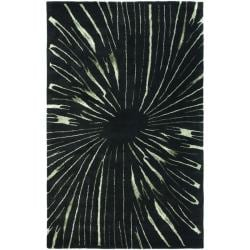 Safavieh Handmade Soho Black/ Green New Zealand Wool Rug (3'6 x 5'6')