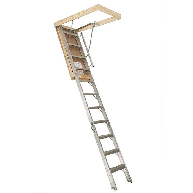 Aluminum 25.5-inch x 10.33-foot Attic Stairway