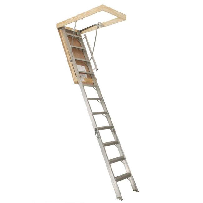 Aluminum 22.5-inch x 8.75-foot<br>Attic Stairway