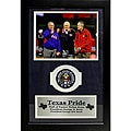 Texas Pride Presidents George HW Bush and George W Bush with Nolan Ryan Deluxe Frame
