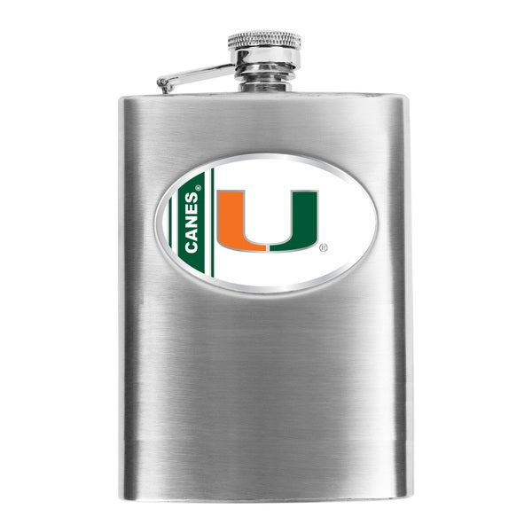 Simran Miami Hurricanes Hip Flask