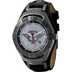 Tapout Silver-tone Water-resistanct Canvas-strap TKO Gun Metal Watch