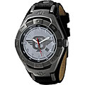 Tapout Silvertone Water-resistanct Canvas-strap TKO Gun Metal Watch