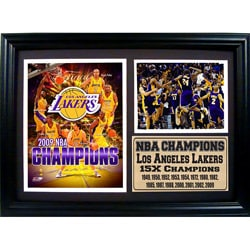 2009 Los Angeles Lakers Stats Plaque