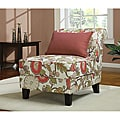Coral Floral Slipper Chair