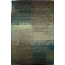 Nepalese Hand-knotted Plum Reflections Wool Rug (2'6 x 8')