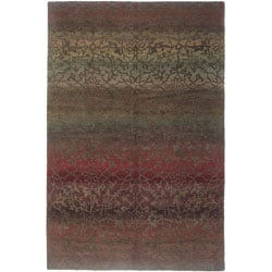 Nepalese Hand-knotted Mauve Divine Wool Rug (3' x 5')