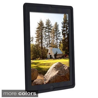 INSTEN Black Soft Silicone Tablet Case Cover for Apple iPad 2
