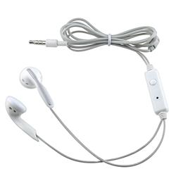 INSTEN White 3.5mm Stereo Headset for Apple iPhone 4/ 4S/ 5/ 5S/ 6