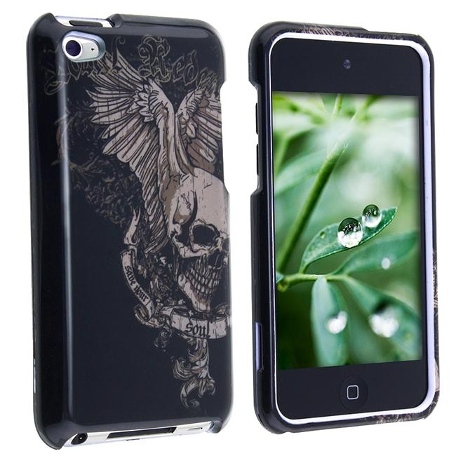 Snap-on Skull Wing Case for Apple iPod Touch 4th Gen