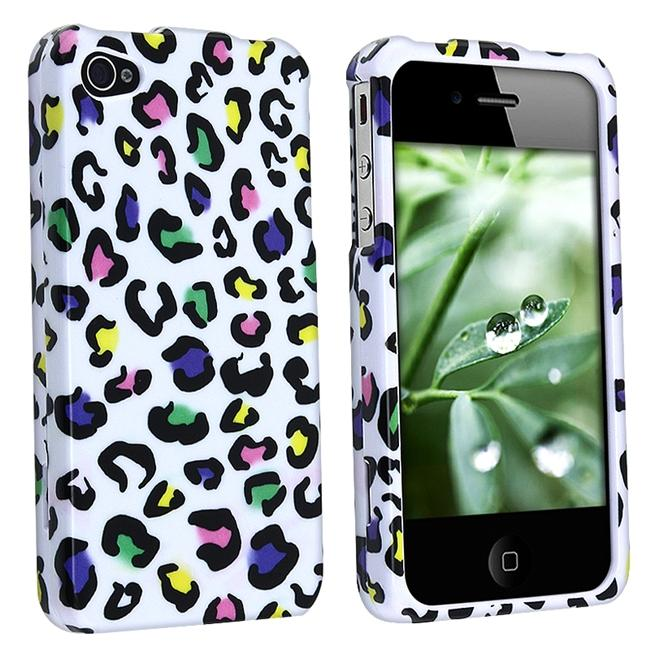 Snap-on Colorful Leopard Case for Apple iPhone 4