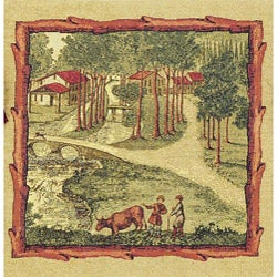 Peaceful Village European Tapestry Wall Hanging (2' x 1'11)