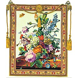 Tuscany European Multiocolored Floral Tapestry Wall Hanging