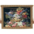 Floral Vase on Pedestal European Classic Tapestry Wall Hanging
