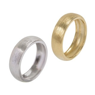 NEXTE Jewelry 14k Gold Overlay Fine Brushed Finish Wedding-style Band