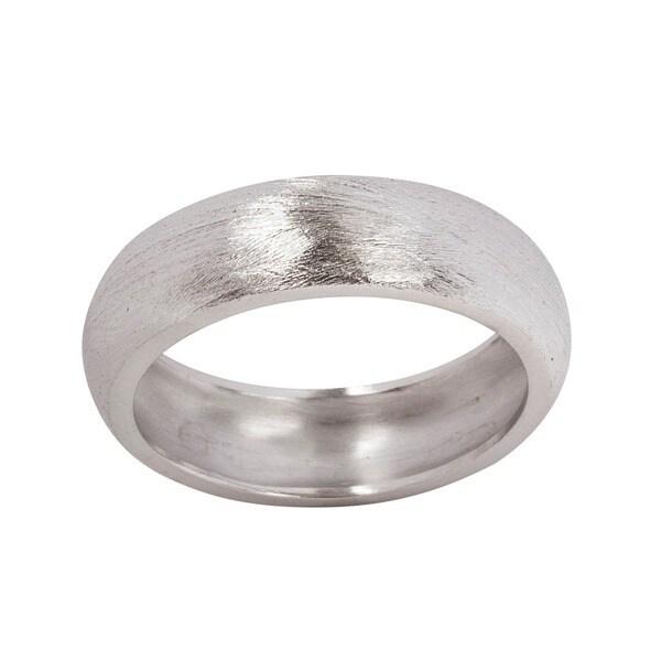NEXTE Jewelry 14k Gold Overlay Fine Brushed Finish Wedding-style Band