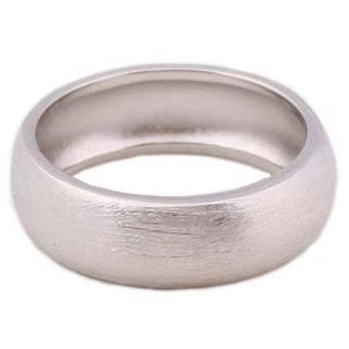 NEXTE Jewelry Silvertone Fine Brushed Finish Wedding-style Band