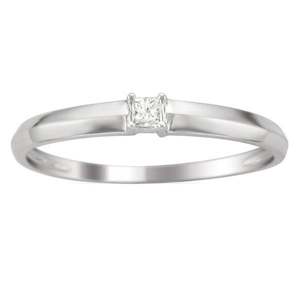 10k White Gold Diamond Accent Promise Ring (K, I2)