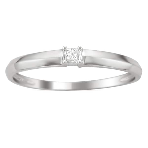 Montebello 10k White Gold Diamond Accent Promise Ring (K, I2)
