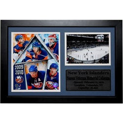 New York Islanders Framed Nassau Veterans Memorial Coliseum and Team Photo